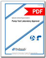 Hydraulic Institute Program Guide for Pump Test Laboratory Approval (HI 40.7-2015)