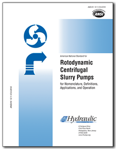 Rotodynamic Centrifugal Slurry Pumps (ANSI/HI 12.1-12.6-2016)