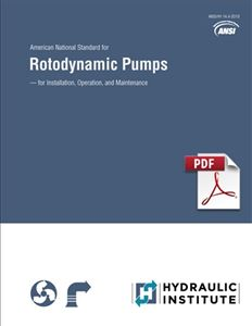 Rotodynamic Pumps for Installation, Operation, and Maintenance (ANSI/HI 14.4-2018 - secure PDF)