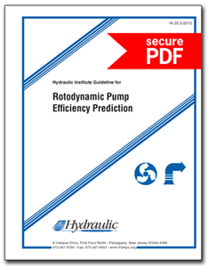 Rotodynamic Pump Efficiency Prediction (HI 20.3-2015 - secure PDF)