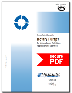 Rotary Pumps for Nomenclature, Definitions, Application and Operation (ANSI/HI 3.1-3.5-2015 - secure PDF)