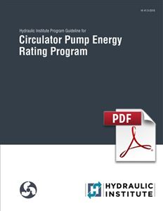 Hydraulic Institute Program Guideline for Circulator Pump Energy Rating Program (HI 41.5-2018).
