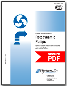 Rotodynamic Pumps for Vibration Measurement and Allowable Values (ANSI/HI 9.6.4-2016 - Secure PDF)