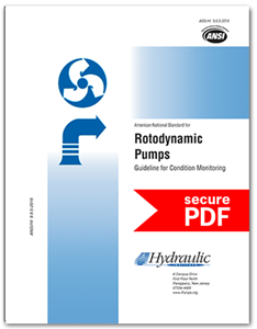 Rotodynamic Pumps Guideline for Condition Monitoring (ANSI/HI 9.6.5-2016 - secure PDF)