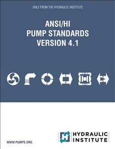 ANSI/HI Pump Standards Version 4.1 Download